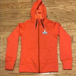 Super Bowl XLIX Nike Orange Zippered Hoodie